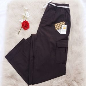 New Vans Shoelace Cargo Pants Cropped High Rise